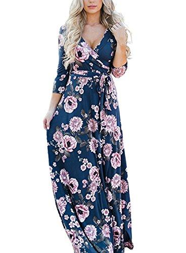 Sleeve Print Women Dress - 7