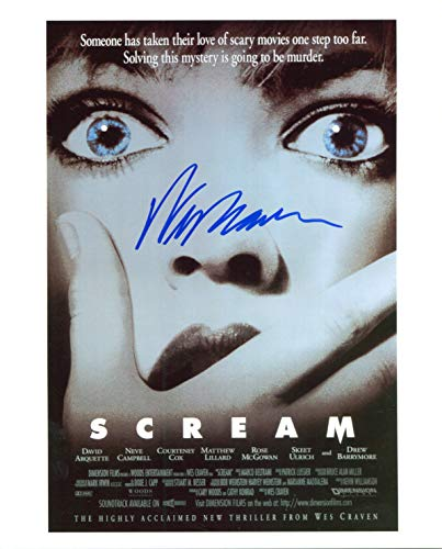 Wes Craven Signed/Autographed Scream Movie Poster 8x10 Glossy Photo. Includes FANEXPO Certificate of Authenticity and Proof. Entertainment Autograph Original. from Star League Sports