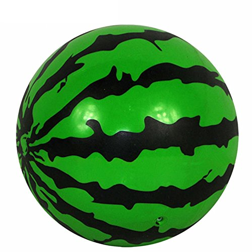 [2 Pc Watermelon Ball Bouncy Kids Sport Realistic Green Shape, Lovely And Funny Super Quick Easy To] (Puff The Green Dragon Dress)