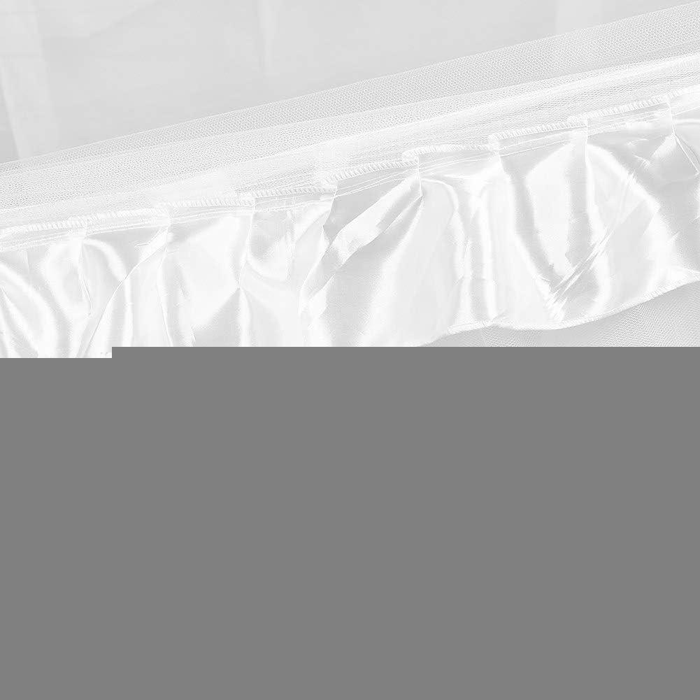 Rideaux de lit /À Baldaquin Reine 1.2 * 2.0-Rose Quatre Coin Post Moustiquaire Princesse /À Volants Lit /À Baldaquin pour Adultes Filles Enfants en Bas /Âge Chambre D/écor