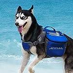 ThinkPet Outdoor Dog Backpack Reflective Saddle Bag - Dog Pack Double Bag for Hound Travel Rucksack for Medium Large Dogs 15