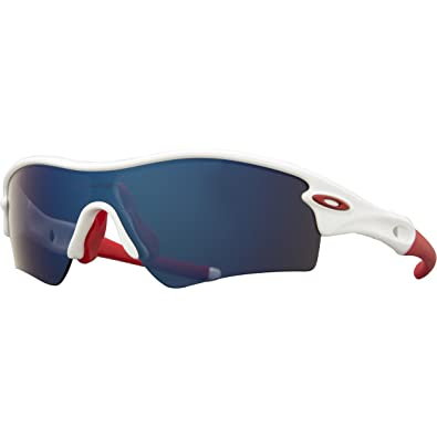 oakley blue and white sunglasses  Amazon.com: Oakley Radar Path Sunglasses, Polished White/Red: Shoes