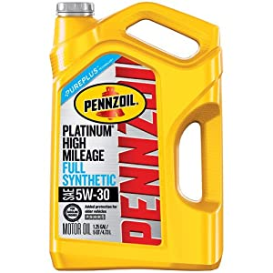 Pennzoil 550045195 Platinum 5 quart 5W-30 High Mileage Motor Oil
