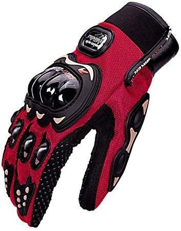 オートバイの手袋、フルフィンガーハードナックル自転車オートバイ軍事戦術戦闘訓練陸軍射撃屋外保護手袋,赤,XL