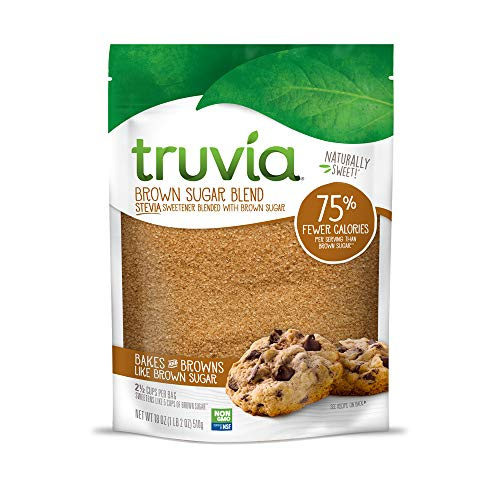 Truvia Brown Sugar Blend, Mix of Natural Stevia Sweetener and Brown Sugar, 18 oz Bag (Best Sugar Replacement For Baking)