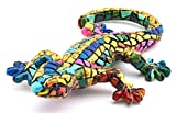 Decorative figure SALAMANDER in MOSAIC LIMITED EDITION of resin hand painted with the modernist technique TRENCADIS, in the Gaudí style. 2,36'' x 4,13'' x 0,79''