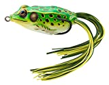 Koppers Floating Frog Hollow Body Lure, 2-5/8-Inch, 3/4-Ounce, Flour Green/Yellow