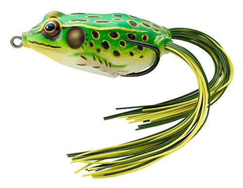 LIVE TARGET Koppers Floating Frog Hollow Body Lure, 2-5/8-Inch, 3/4-Ounce, Flour Green/Yellow