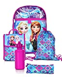 Disney Girls' Frozen 5 Pc Set Backpack, Purple, One Size