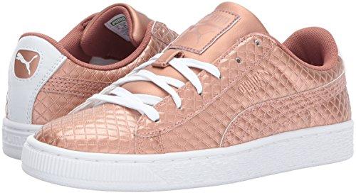 Pictures of PUMA Basket Met Emboss Kids Sneaker Copper 4