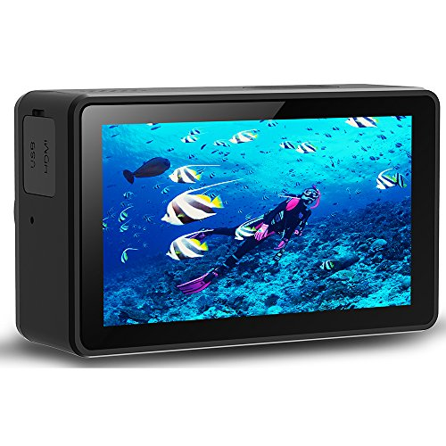 Sport and Action Camera Touch screen 1080P HD 4K WIFI Underwater 30M Cam with 170 Wide Angle Rechargeable Battery DV Black
