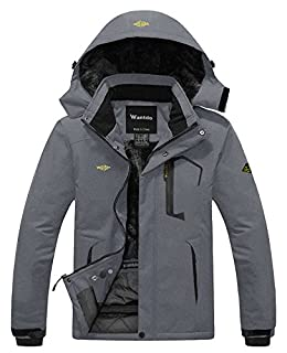 Wantdo Men's Waterproof Fleece Ski Jacket Windproof Rain Jacket Snowboarding Jacket Dark Grey M (B07B2SZZLD)   Amazon price tracker / tracking, Amazon price history charts, Amazon price watches, Amazon price drop alerts