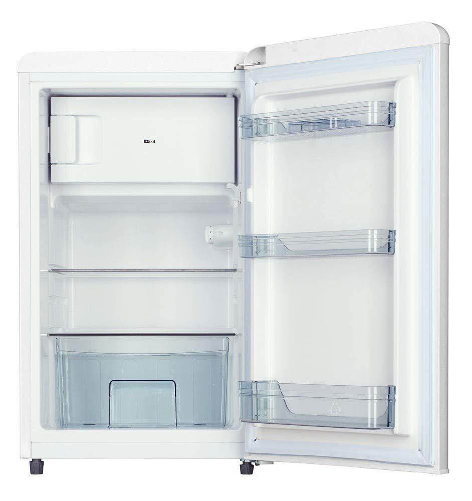 ProKIRA PR95 WE - Frigorífico con congelador, estilo retro, altura ...