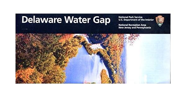 delaware water gap national park service illustrated foldout brochure