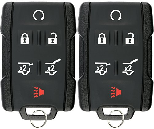 Pack of 2 KeylessOption Keyless Entry Remote Control Car Key Fob Replacement for Chevy GMC M3N-32337100