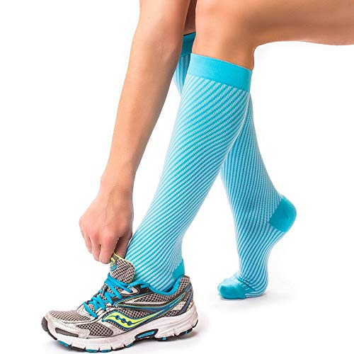 Compression Socks for Women, Graduated long Socks for Nurses, Flight Travel, Shin Splints, Maternity, Pregnancy. Energy Socks for Nurses, Support Hose for Women, Knee High Compression Stocking - M