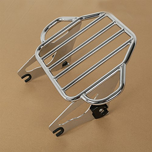 XFMT Detachable Adjustable Motorcycles Chrome Backrest Two Up Tour Pak Mounting Luggage Rack Compatible with Harley Road Glide 2009-2018