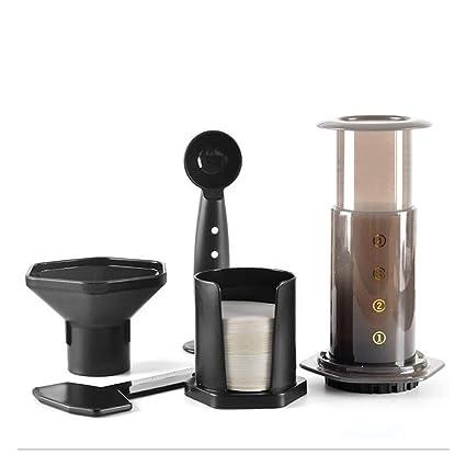 W&Z Cafetera Manual portátil Espresso Press Olla cafetera Espresso con filtros de café