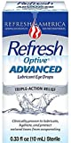 REFRESH Optive Advanced Lubricant Eye Drops 10 ml by Refresh
