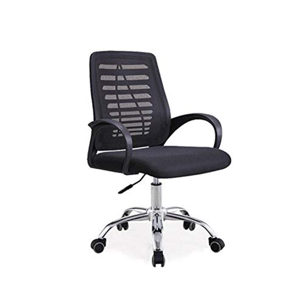 Hxnyz Office Chair Staff Office Chair Simple Modern mesh Office Swivel Chair Home Computer Chair (Color : Blue) (Color : Black)