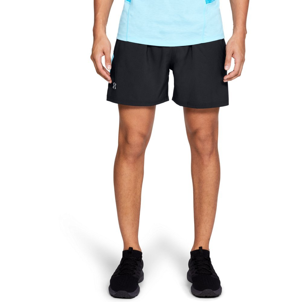 Under Armour Men's Launch Sw 5'' Shorts, Black (011)/Reflective, Small by Under Armour (Image #1)