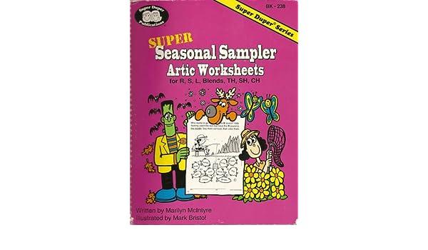 Super Seasonal Sampler: Artic Worksheets for R, S, L, Blends, TH ...