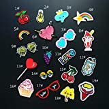 Iron On Patches - DIY Sew Decoration Appliques Stickers Embroidery Patches Cloth, Repair The Hole Stick (19 Pcs)