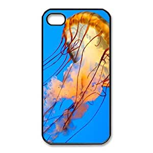 iphone4 4s phone cases Black Jellyfish fashion cell phone cases HYTE5062104
