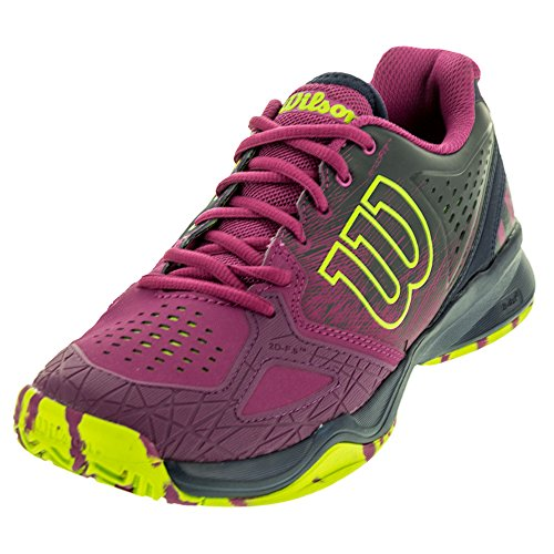 Image of Wilson Kaos Comp Women's Tennis Shoe Purple/Navy/Neon