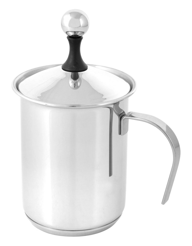 Bialetti Cappuccino Creamer, Stainless Steel, Grey 470