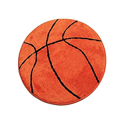 TCDBEST Children's Carpet Basketball Pattern Rug Non-Slip Backing for Bedroom, Kitchen, Hallway, Doorway