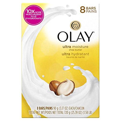 Olay Moisture Outlast Ultra Shea Butter Beauty Bar 90g, 8 Count