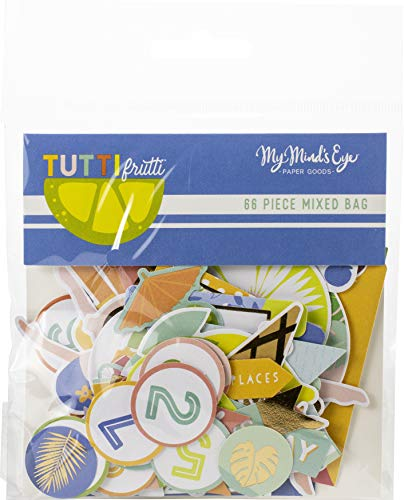 (My Minds Eye TUT116 Tutti Frutti Mixed Bag Cardstock Die-Cuts 66/Pkg)