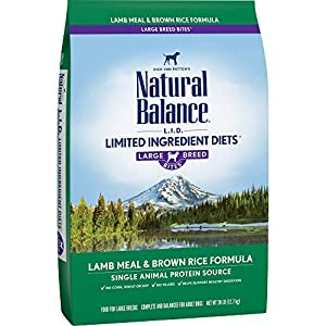 Natural Balance Dry Dog Food Limited Ingredient Diet for Large Breeds, Lamb Meal and Rice, 28 Pound Bag 114