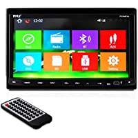 Pyle Bluetooth 7-Inch Car Stereo  Headunit Receiver Double Din, Built-In Mic, Hands-Free Call Answering, Touch Screen, am fm Radio CD/DVD Car Audio System (PLDNB78I)