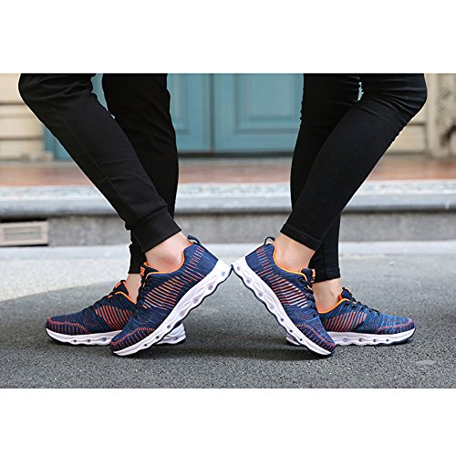 Shoes snfgoij Walking Women Sports Light Lightweight Shoes Running Flat Breathable Shoes Shoes Mesh Hiking Casual Blue Ladies pXrwqpZ