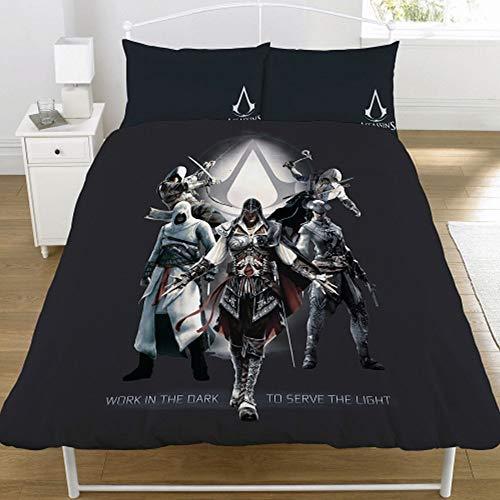 Assassin's Creed Serve The Light Duvet Set (Full) (Black) (Best Creed For Winter)