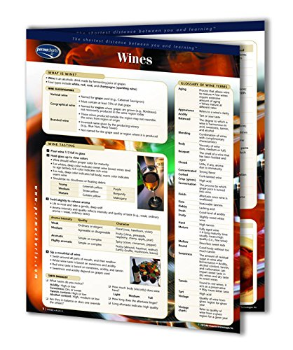 Wine Guide - Food and Drink Quick Reference Guide by Permacharts