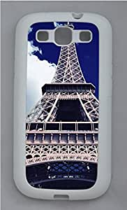 Samsung Galaxy S3 I9300 Cases & Covers - Blue Sky Eiffel Tower Custom TPU Soft Case Cover Protector for Samsung Galaxy S3 I9300 - White