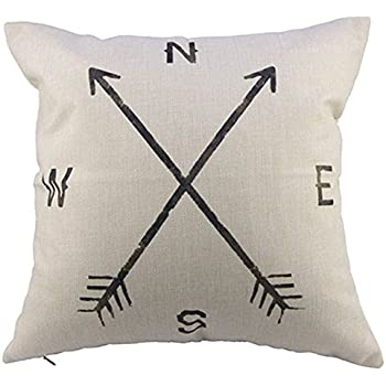 FairyTeller Compass Linen Throw Pillow Case Cushion Cover Home Decor Chiar Car Seat Quality First