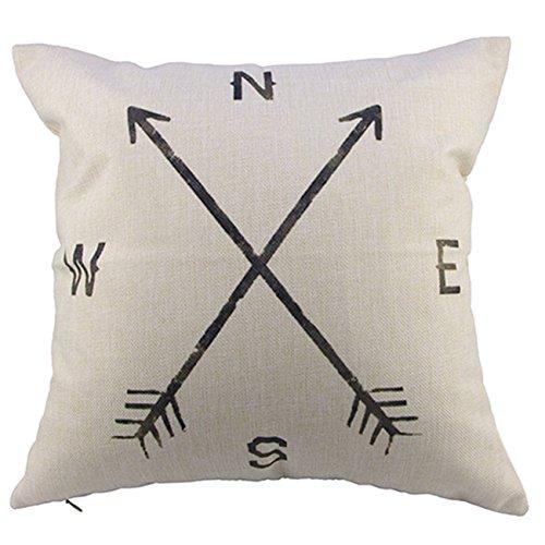FairyTeller Compass Linen Throw Pillow Case Cushion Cover Home Decor Chiar Car Seat Quality First