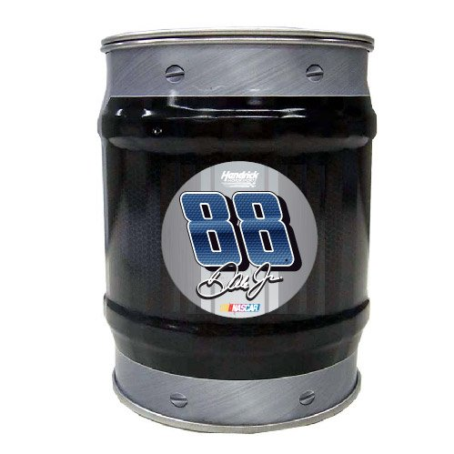 (NASCAR #88 Dale Earnhardt Jr Tin Bank-NASCAR Coin Bank-NEW for 2016!)
