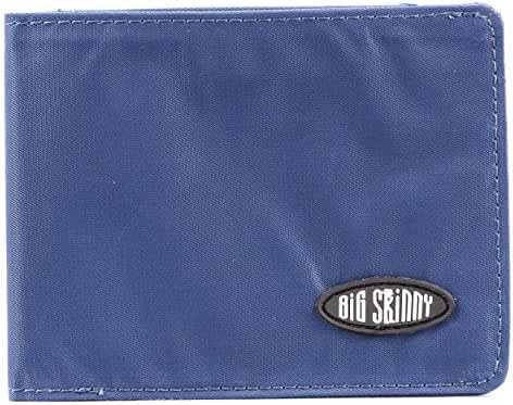 Big Skinny Men's Slimline Bi-Fold Slim Wallet, Holds Up to 25 Cards