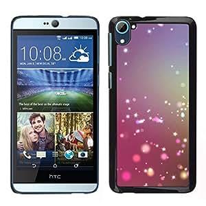 EJOY---Cubierta de la caja de protección para la piel dura ** HTC Desire D826 ** --Polvo de hadas púrpura azul Niebla Enfoque
