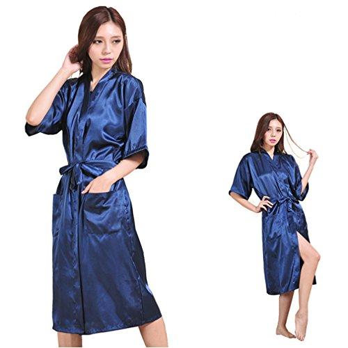 Blu Pigiami e Vestaglie e Sposa Marino WYSMOL a Stampa da Camicie Kimono Notte Caldo Z7Wq0B