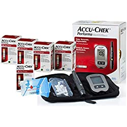Accu Chek 210 Test Strips and Monitor Tester Bundle