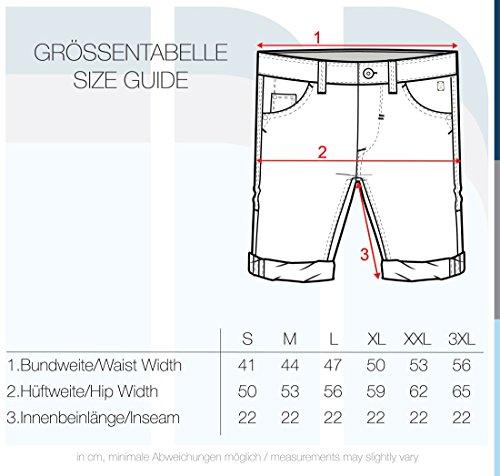 extensible Diego en poussiéreux pantalons courts Shorts tissu Fit hommes Slim 77203 pour vert Blend Denim zwx0ndd