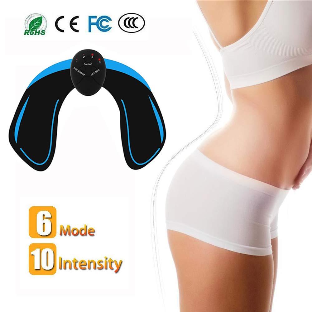 Intelligent Portable Massage pour Aider /à Fa/çonner Le Muscle et /à Sculpter Les Courbes Hips Electrostimulateur EMS Massage Musculaire