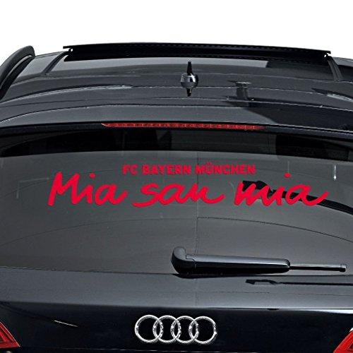 Aufkleber Mia san mia FC Bayern München etiqueta engomada / Sticker / autocollant 3D Sticker, Autoaufkleber FCB
