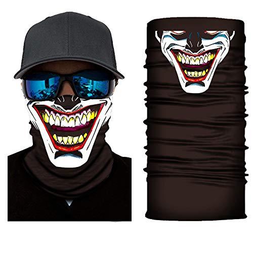 TrendDeluxe24 Schlauchschal aus Mikrofaser   Schlauchtuch   Neckwarmer   Halstuch   Bandana   Multifunktionstuch   Face Shield   Mundmaske   Motorradschal (Jester)
